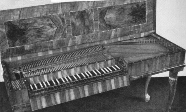 Square Piano by Gottfried Silbermann, 1749